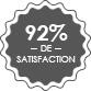 92% de satisfaction